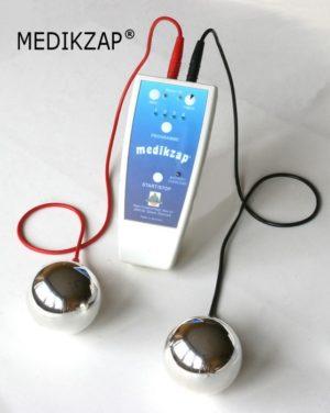 Aparat MEDIKZAP - zapper - 2 elektrody kuliste z czystego srebra