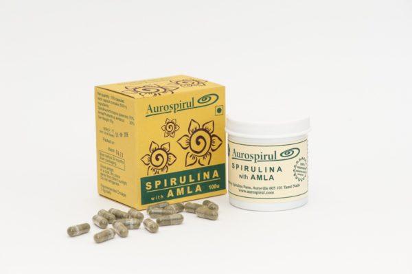 Spirulina z Amlą 100 kapsułek, 50 gram