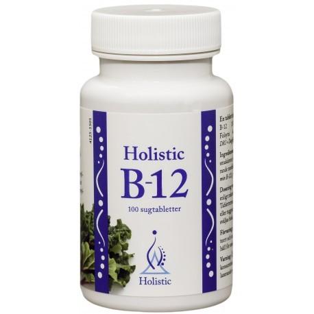 Holistic B-12 witamina B12 metylkobalamina kwas foliowy (witamina B9) , 100 tabletek